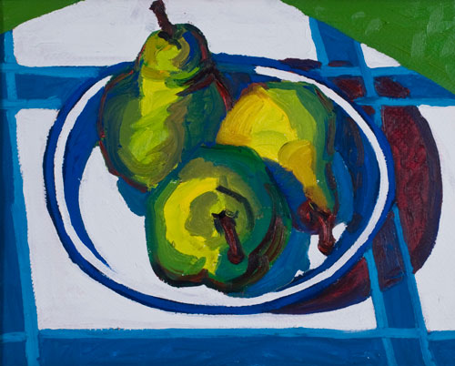 Three Pears on a Plate, 1980