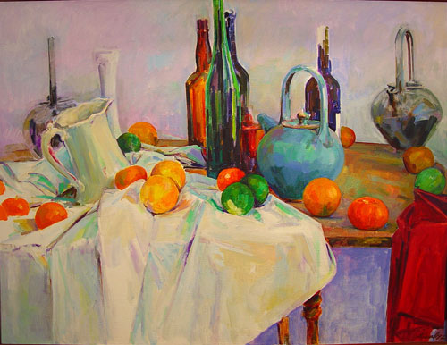 Still Life with Oranges and Pots, 1996